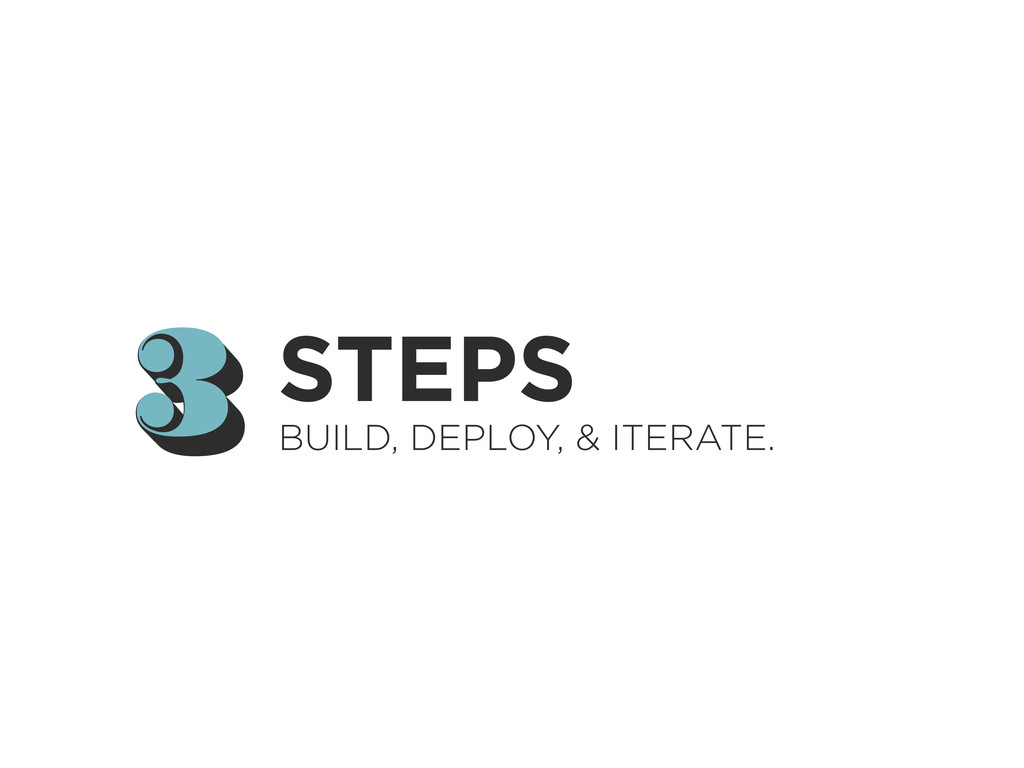 3 3 STEPS BUILD, DEPLOY, & ITERATE.