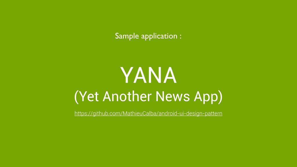 YANA (Yet Another News App) Sample application ...