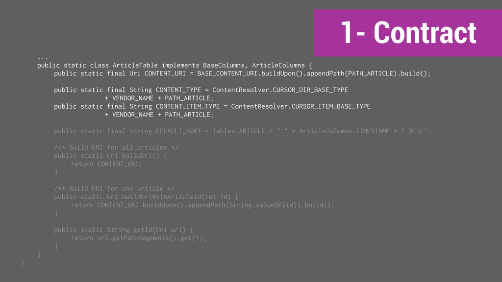 1- Contract ... public static class ArticleTabl...