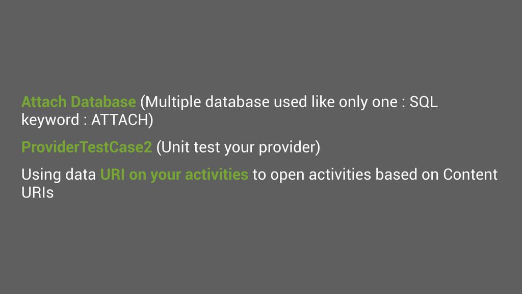 Attach Database (Multiple database used like on...