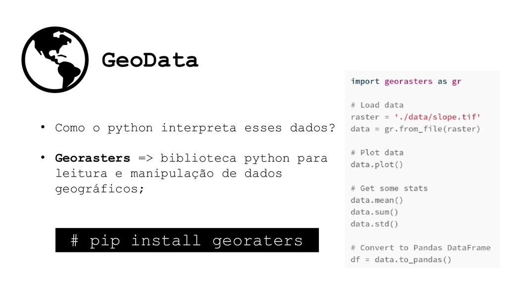 GeoData • Como o python interpreta esses dados?...