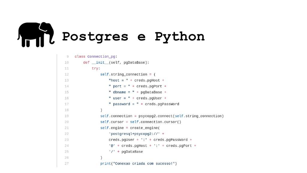 Postgres e Python