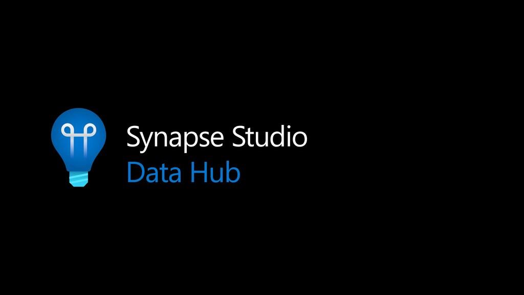 Synapse Studio Data Hub