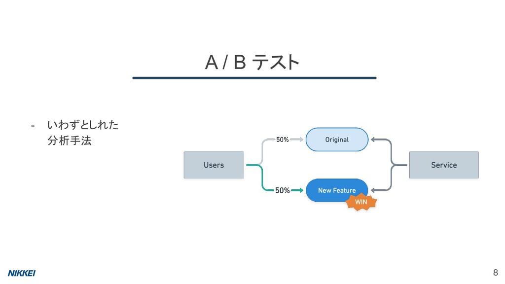 A / B テスト 8 - いわずとしれた 分析手法