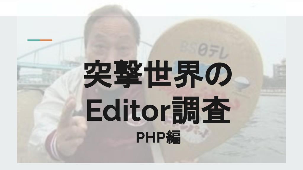 突撃世界の Editor調査 PHP編