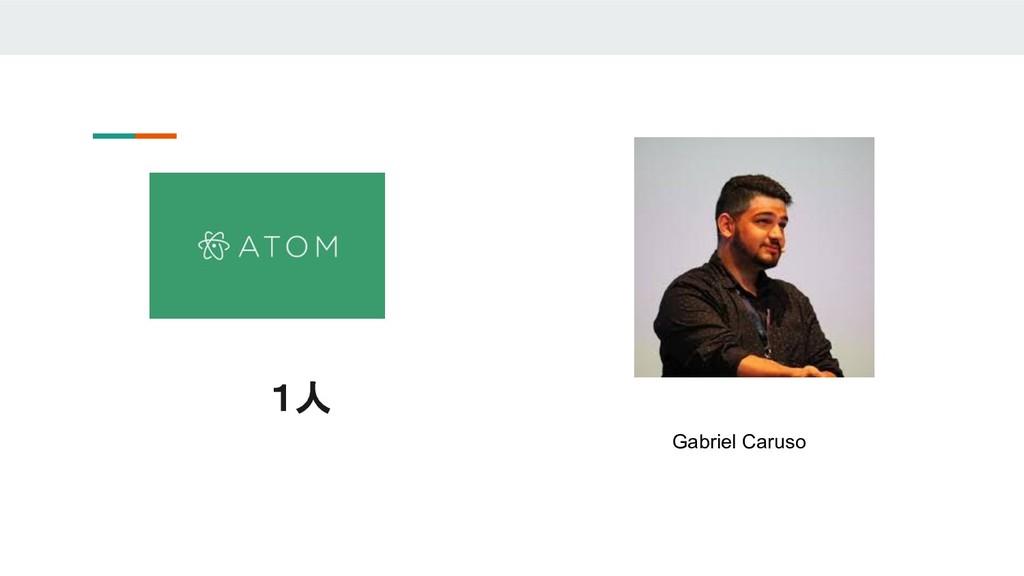 1人 Gabriel Caruso