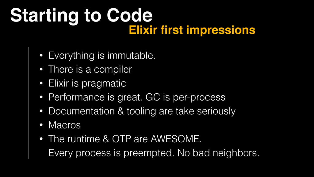 Starting to Code Elixir first impressions • Ever...