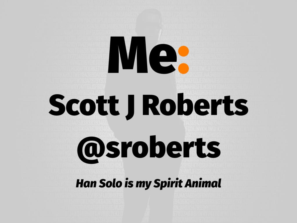 Me: Scott J Roberts @sroberts Han Solo is my Sp...