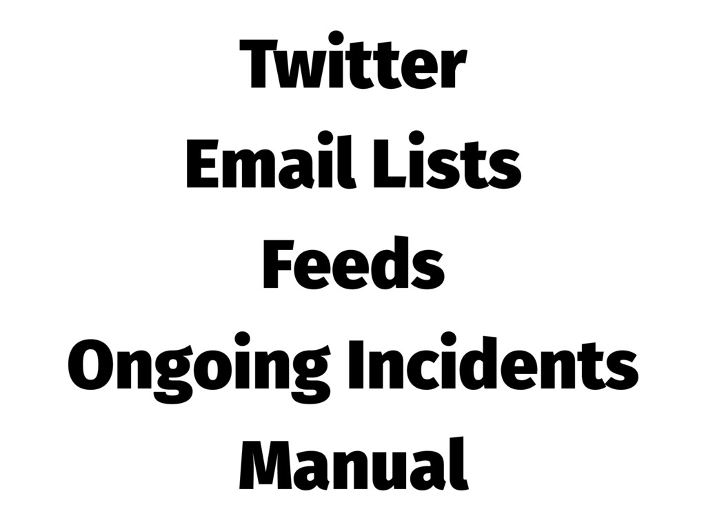 Twitter Email Lists Feeds Ongoing Incidents Man...