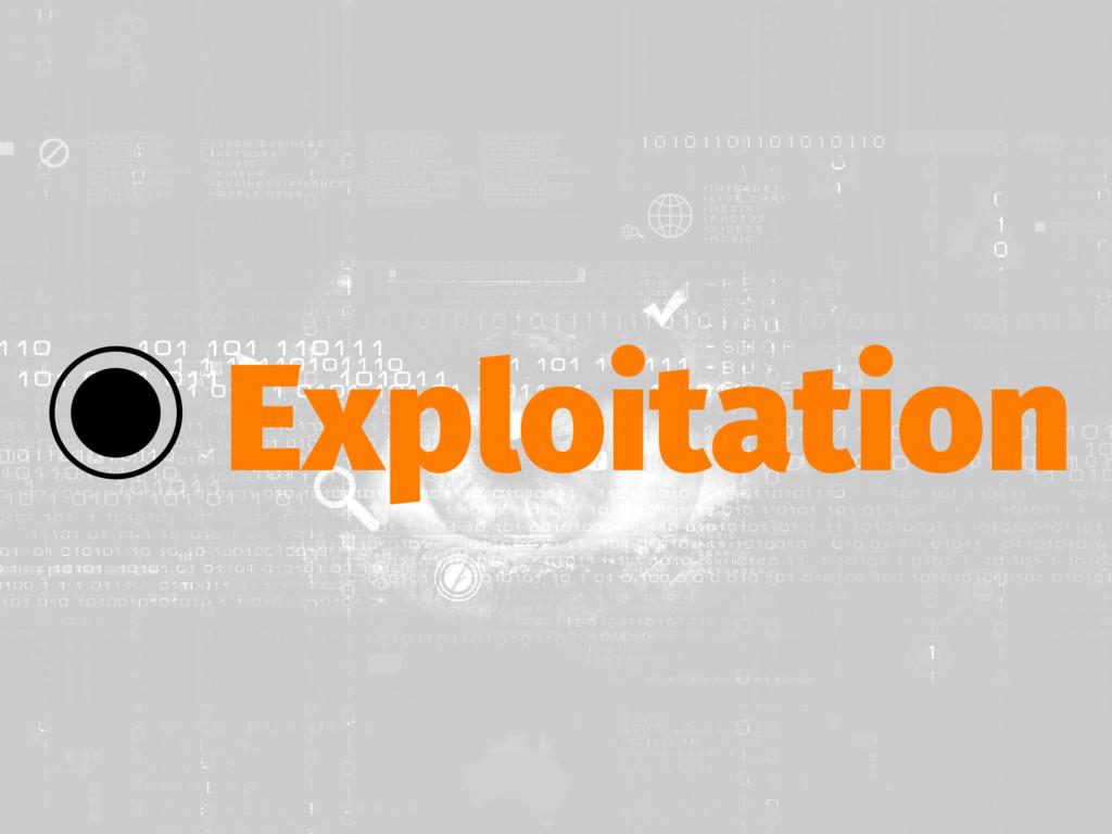 ‒ Exploitation