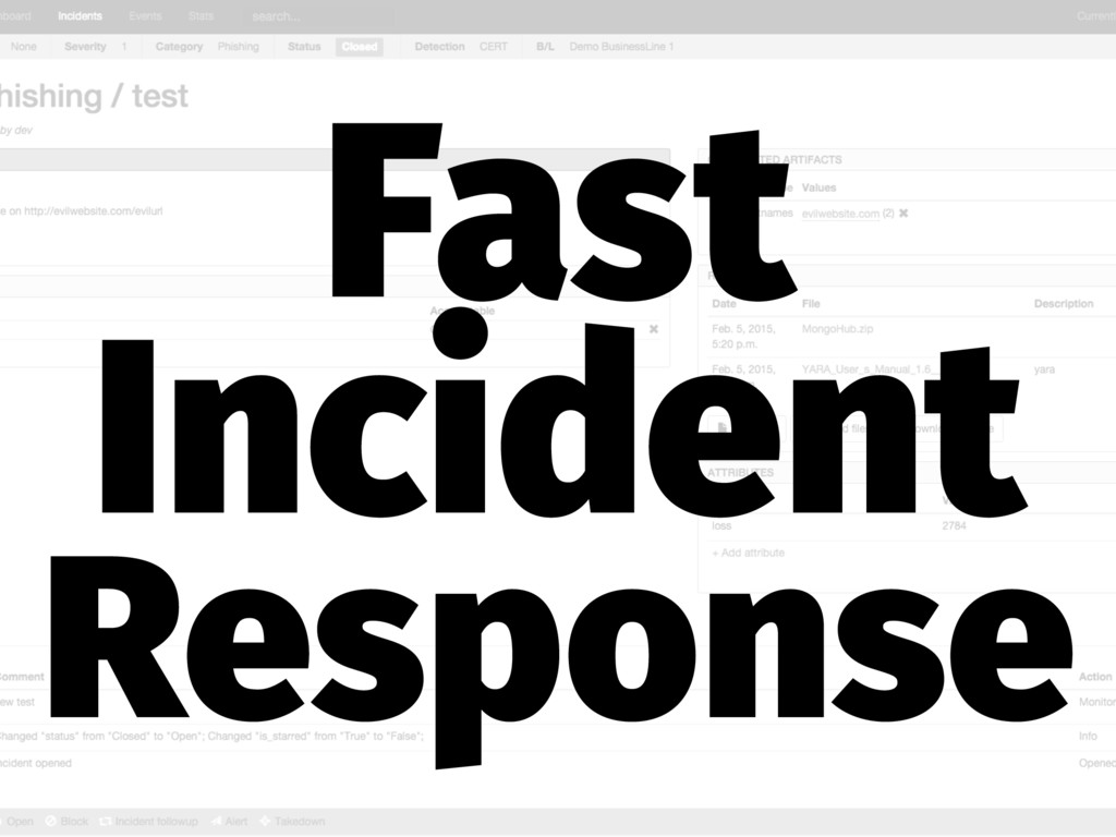 Fast Incident Response