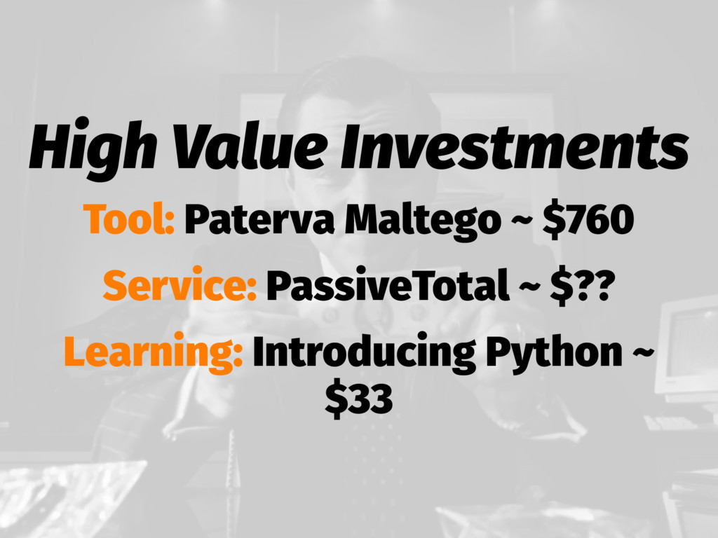 High Value Investments Tool: Paterva Maltego ~ ...