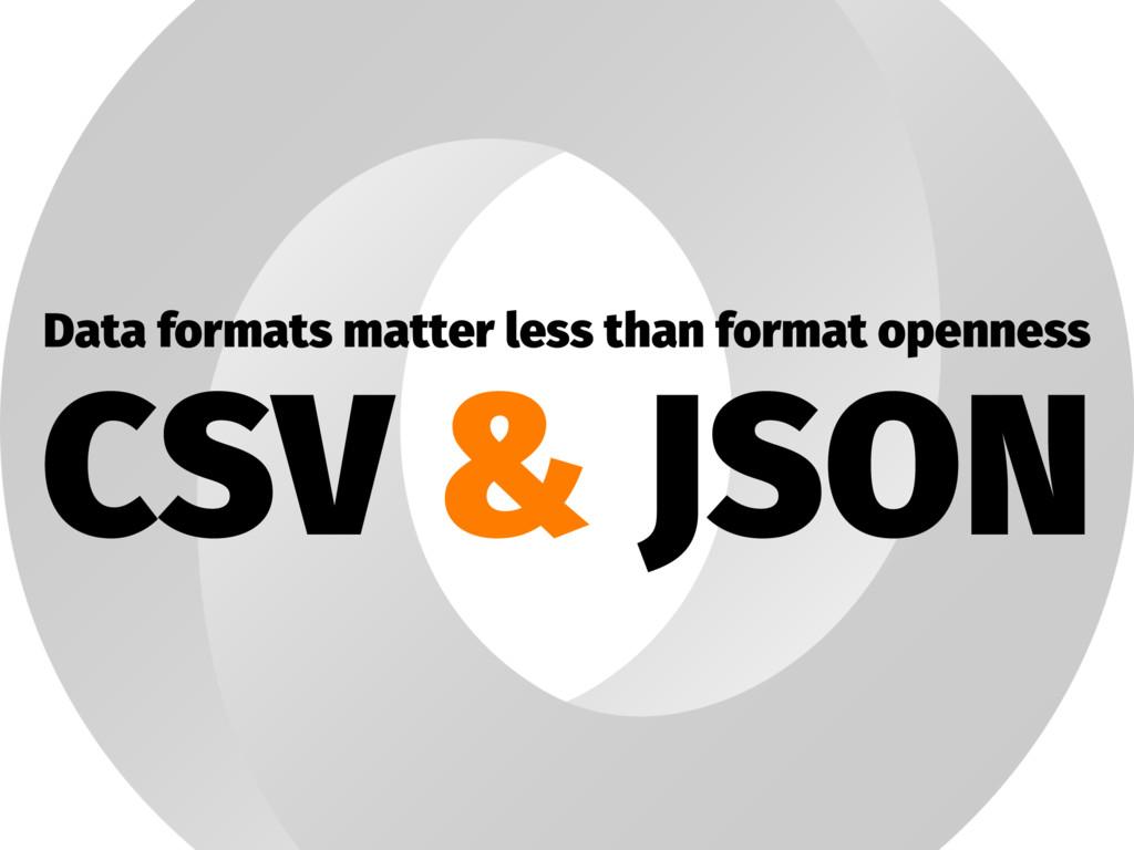 Data formats matter less than format openness C...