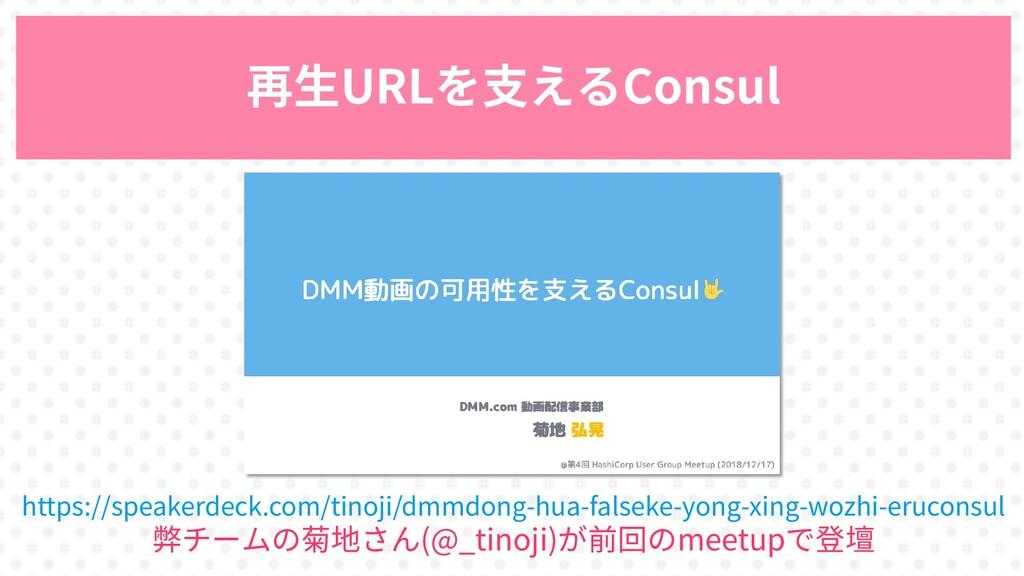 29 再生URLを支えるConsul https://speakerdeck.com/tino...