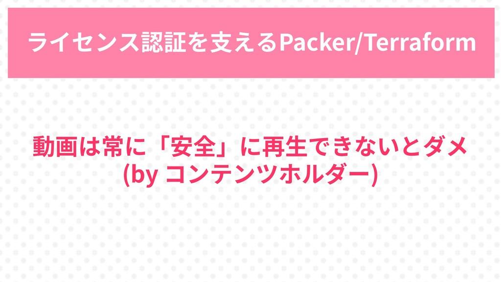 33 ライセンス認証を支えるPacker/Terraform 動画は常に「安全」に再生できない...