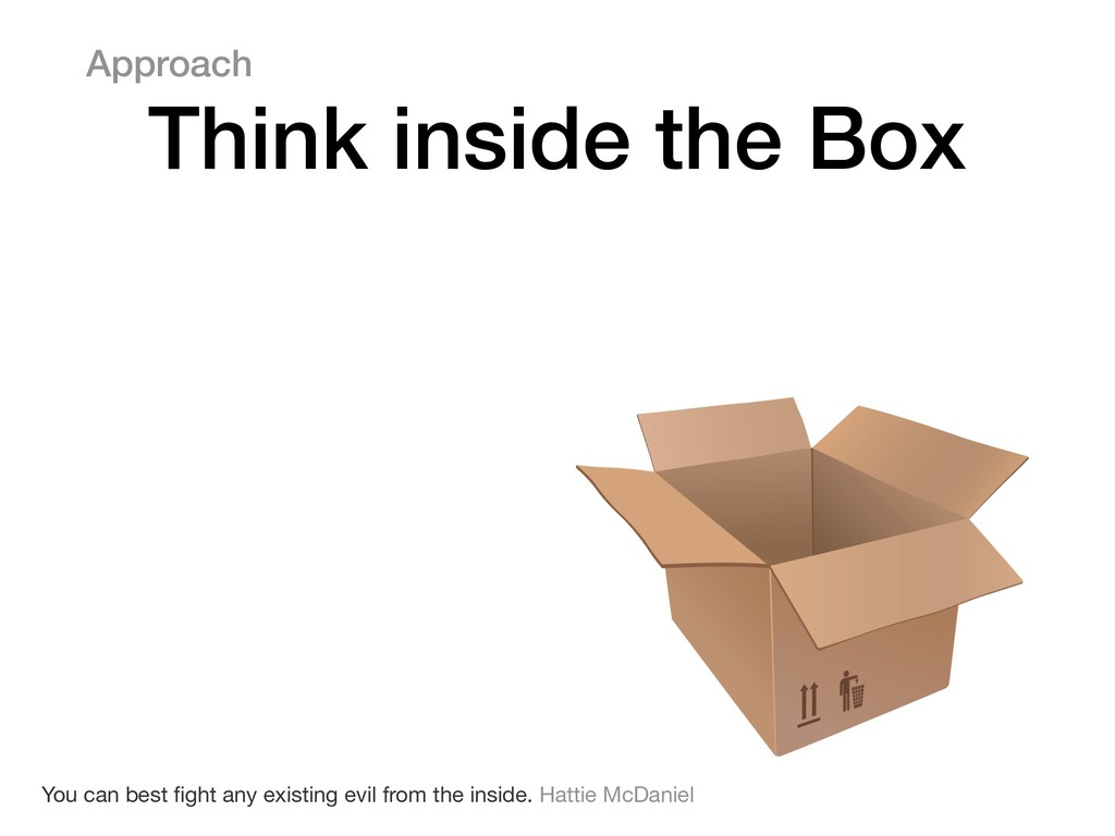 Approach Think inside the Box You can best fight...