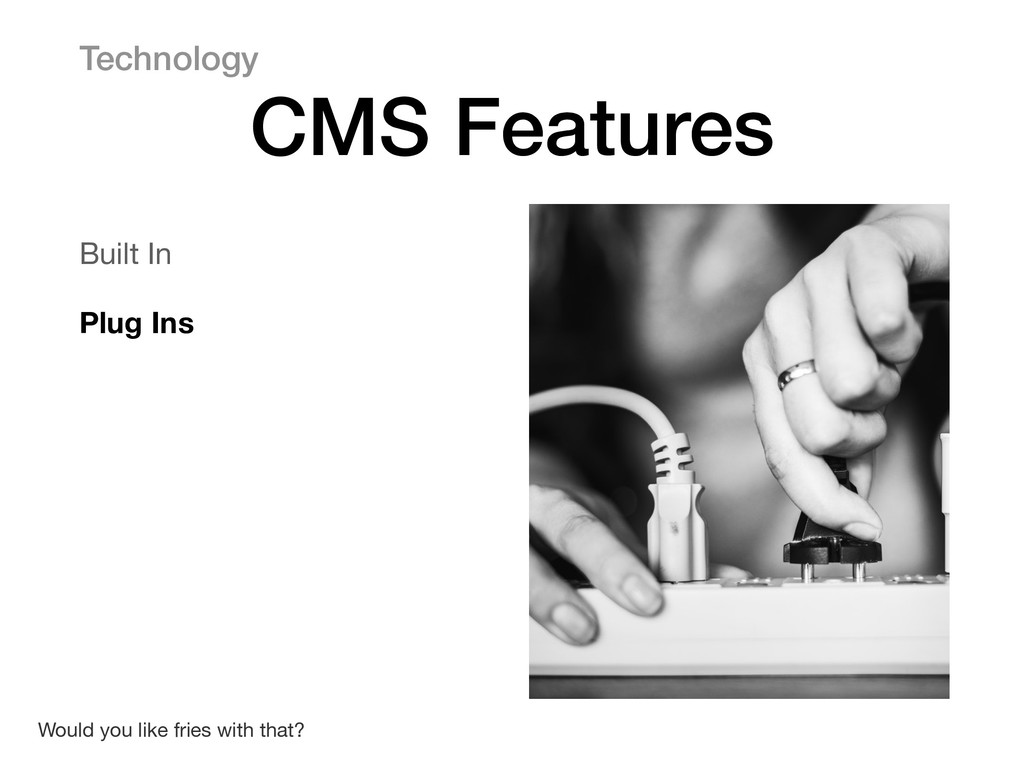 Built In  Plug Ins Technology CMS Features Woul...