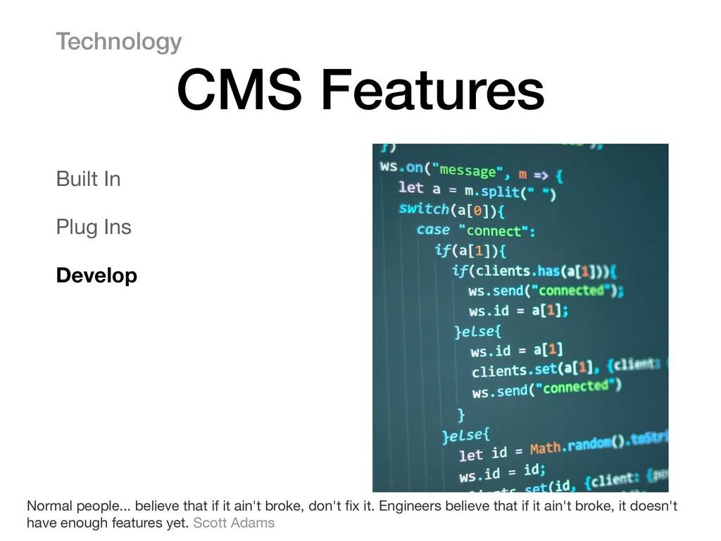 Built In  Plug Ins  Develop Technology CMS Feat...