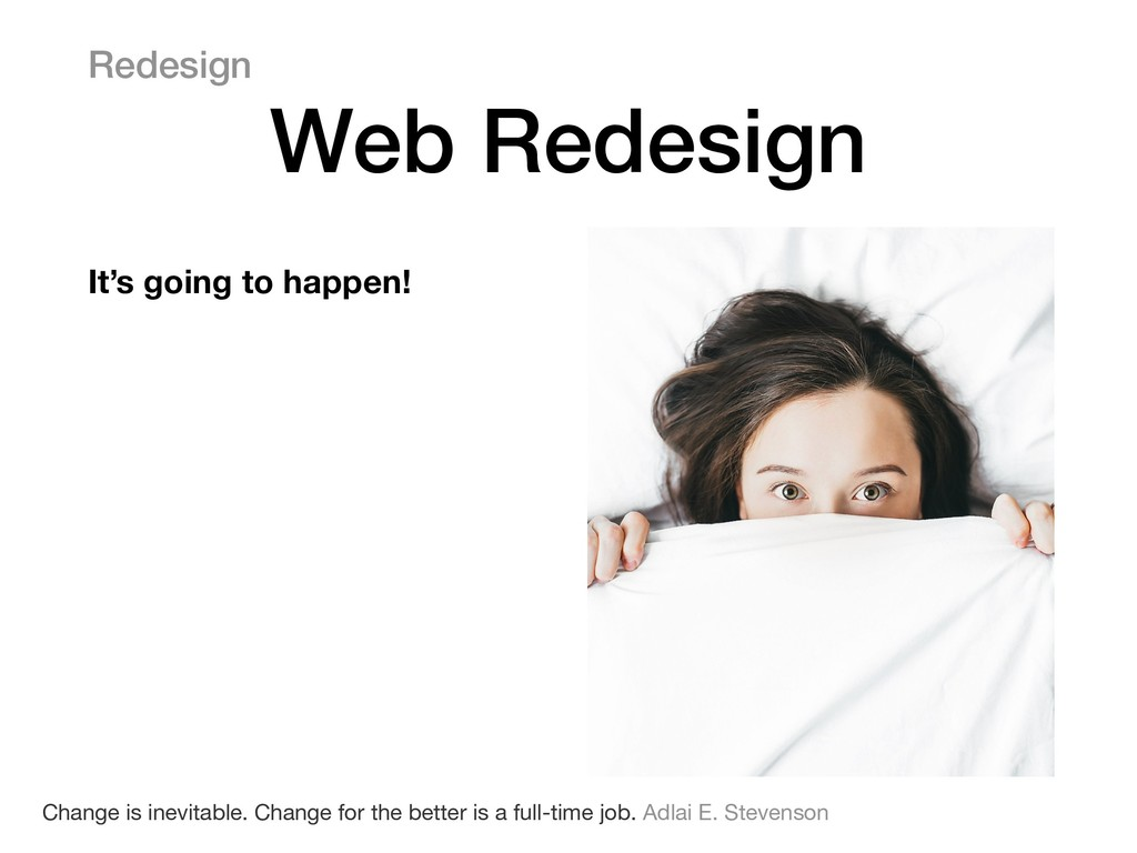 Redesign Web Redesign 