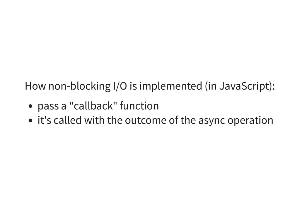 How non-blocking I/O is implemented (in JavaScr...