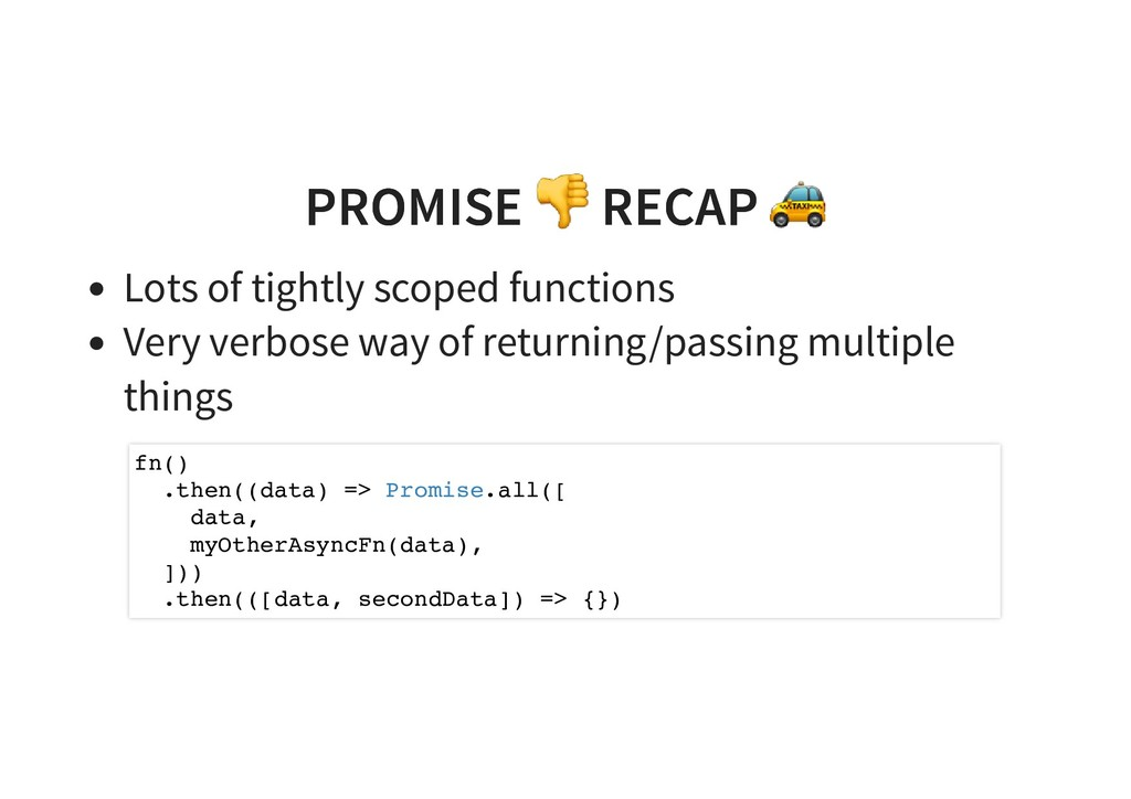 PROMISE RECAP PROMISE RECAP Lots of tightly sco...