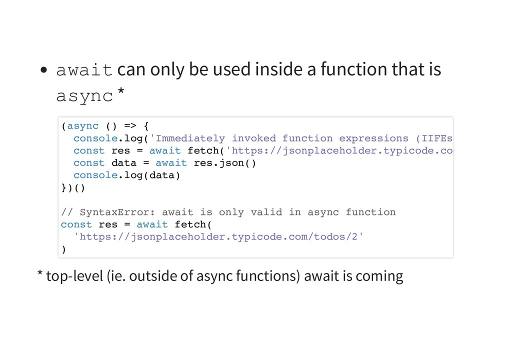 await can only be used inside a function that i...