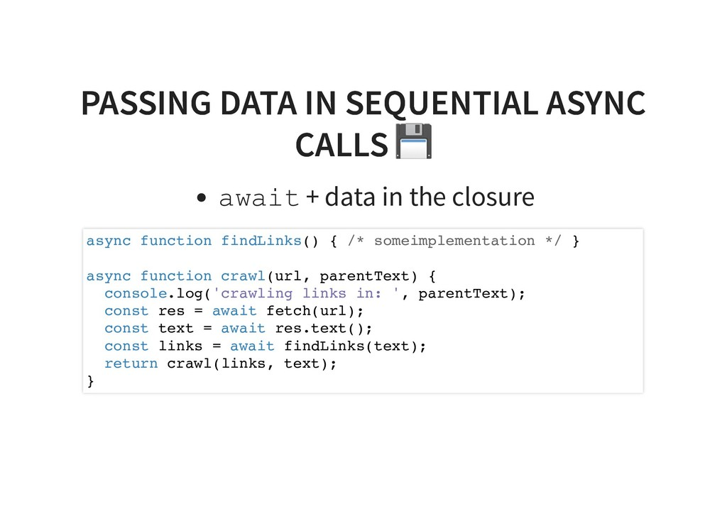 PASSING DATA IN SEQUENTIAL ASYNC PASSING DATA I...