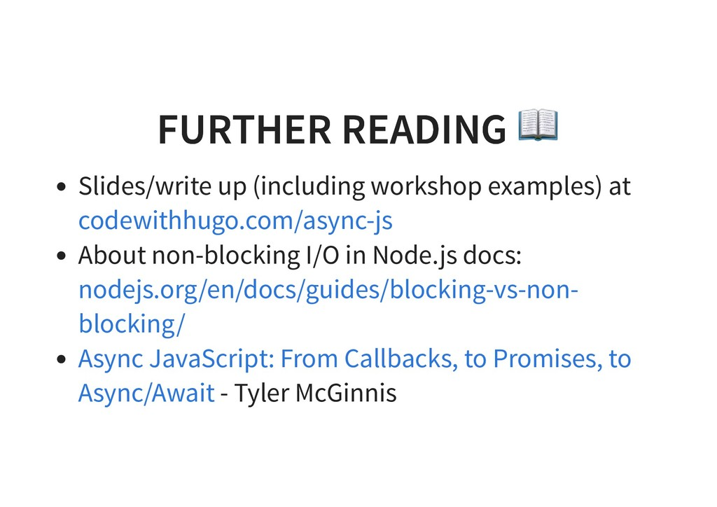 FURTHER READING FURTHER READING Slides/write up...