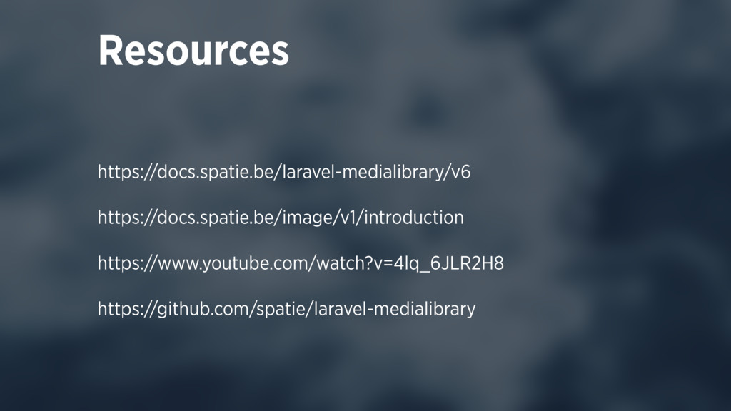 https://docs.spatie.be/laravel-medialibrary/v6