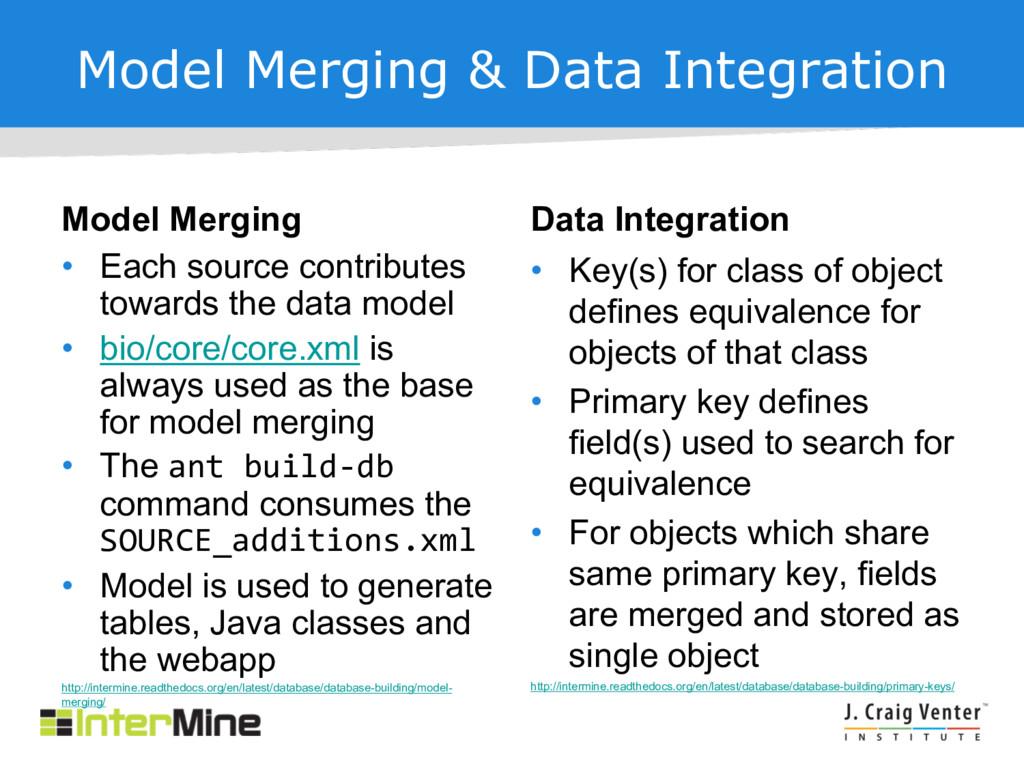 Model Merging & Data Integration Model Merging ...