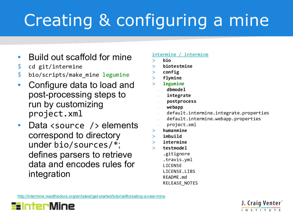 Creating & configuring a mine • Build out scaff...