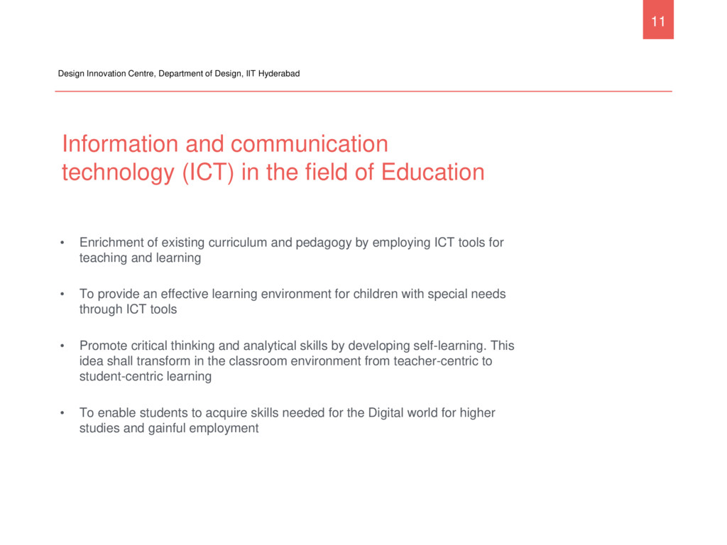 Information and communication technology (ICT) ...