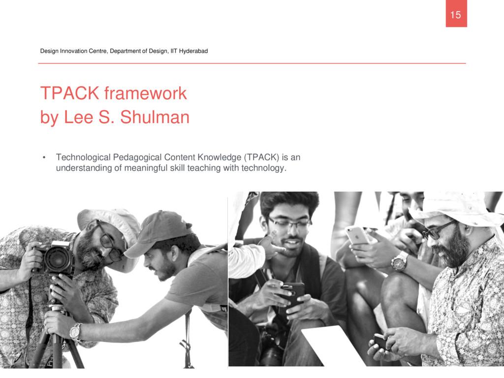 TPACK framework by Lee S. Shulman Design Innova...