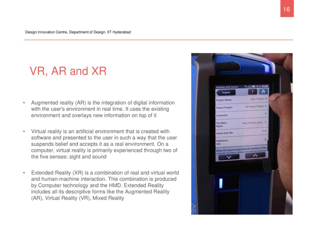 VR, AR and XR Design Innovation Centre, Departm...