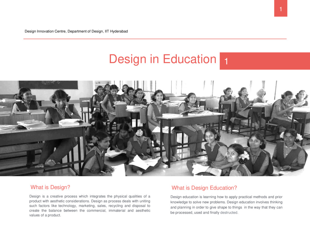 Design in Education Design Innovation Centre, D...