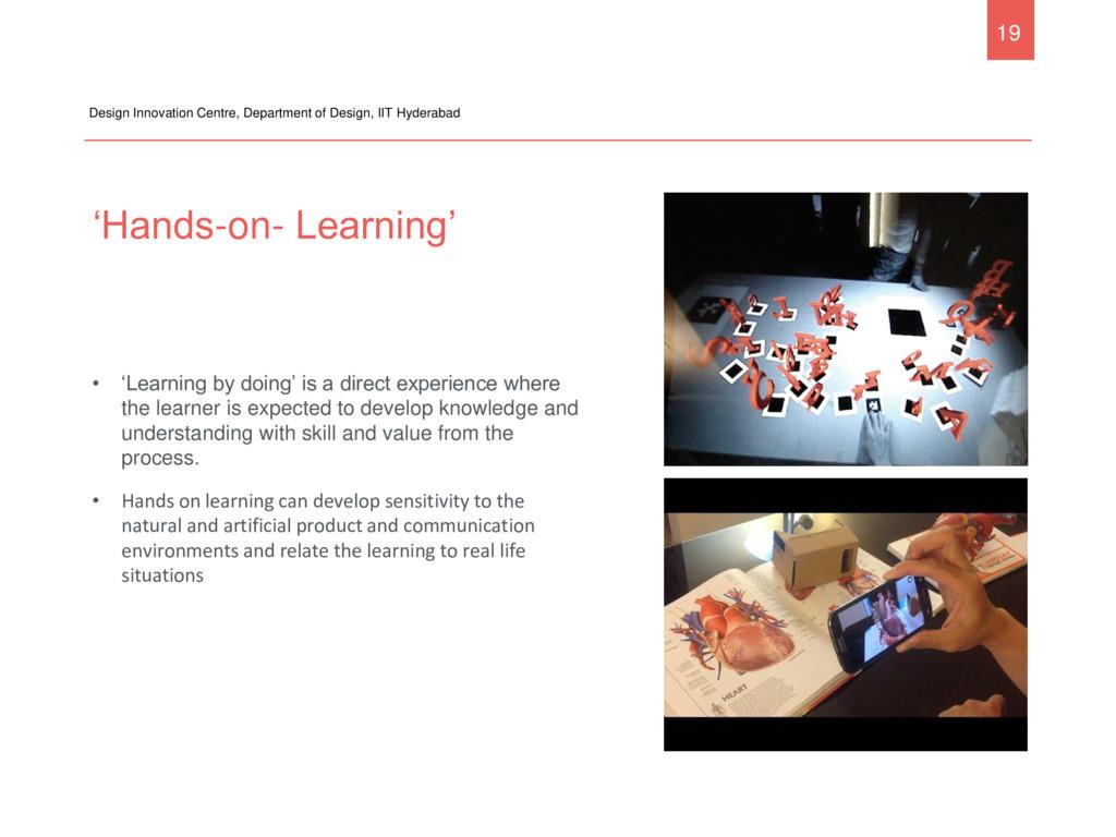 'Hands-on- Learning' Design Innovation Centre, ...