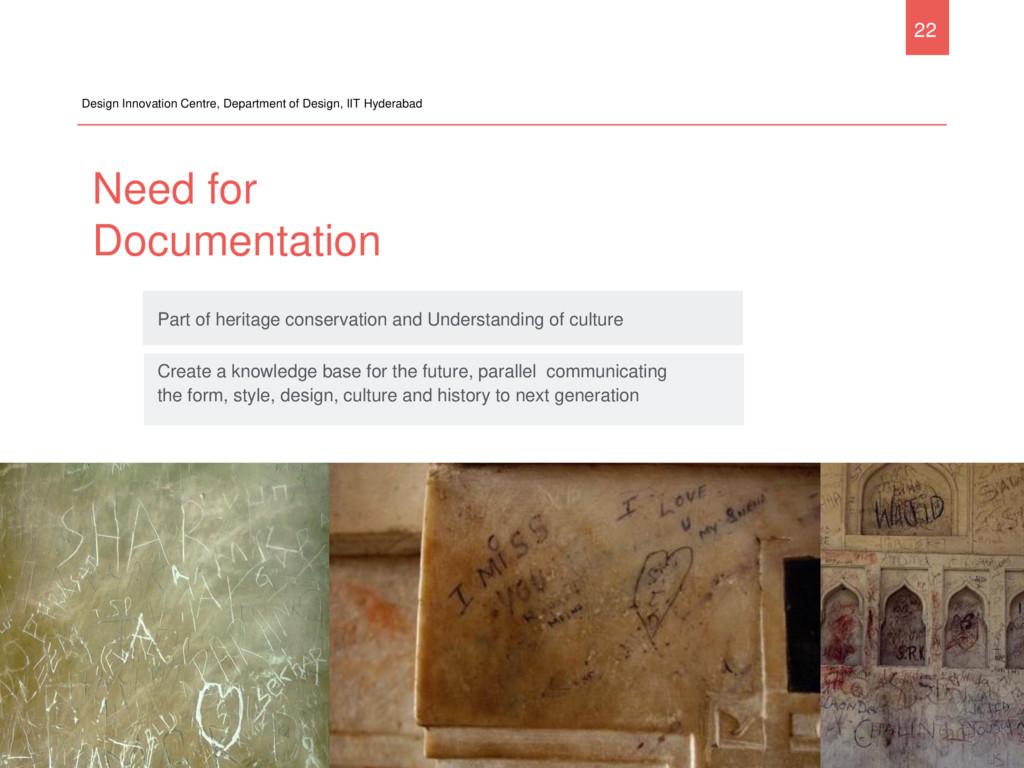 Need for Documentation Design Innovation Centre...