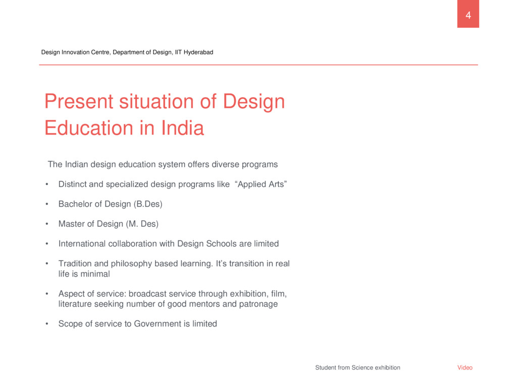 Present situation of Design Education in India ...