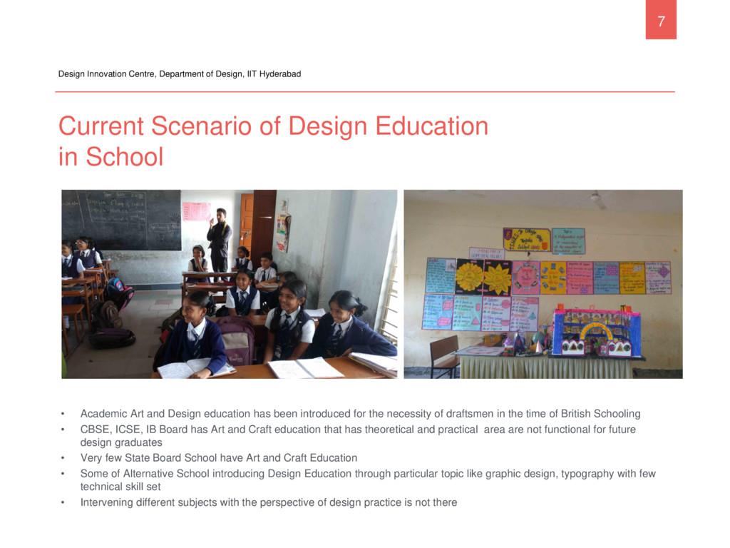 Current Scenario of Design Education in School ...
