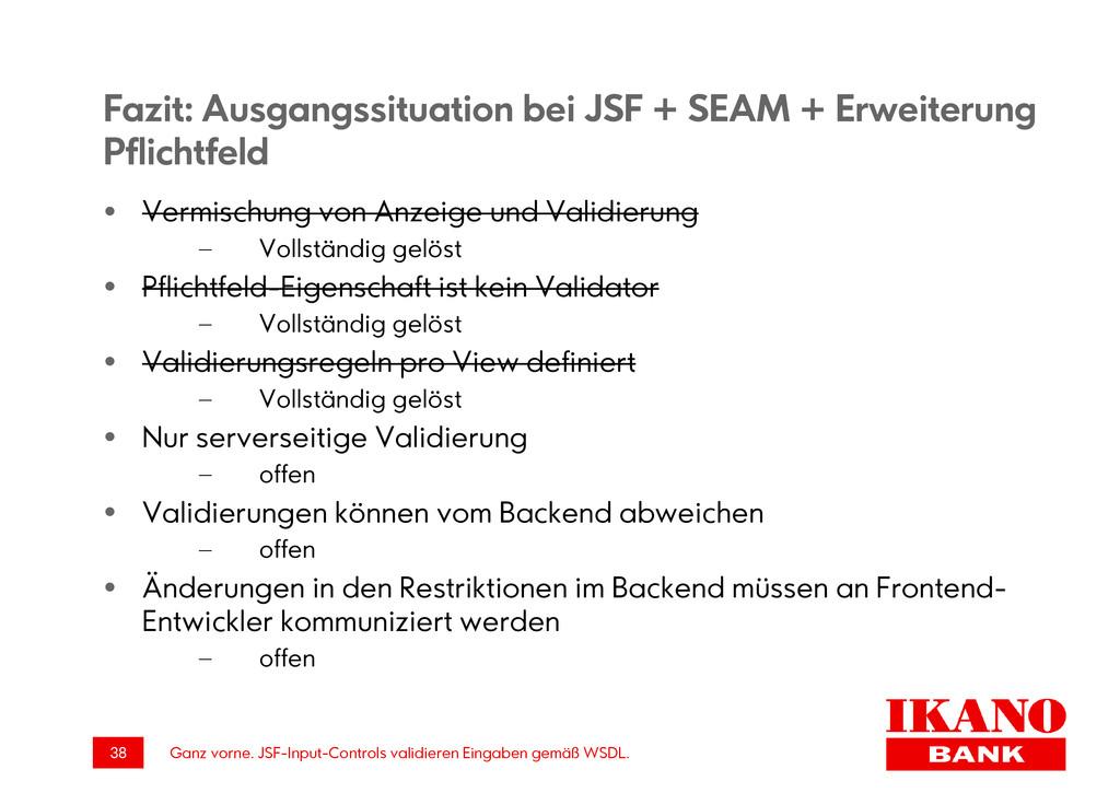 Ganz vorne. JSF-Input-Controls validieren Einga...