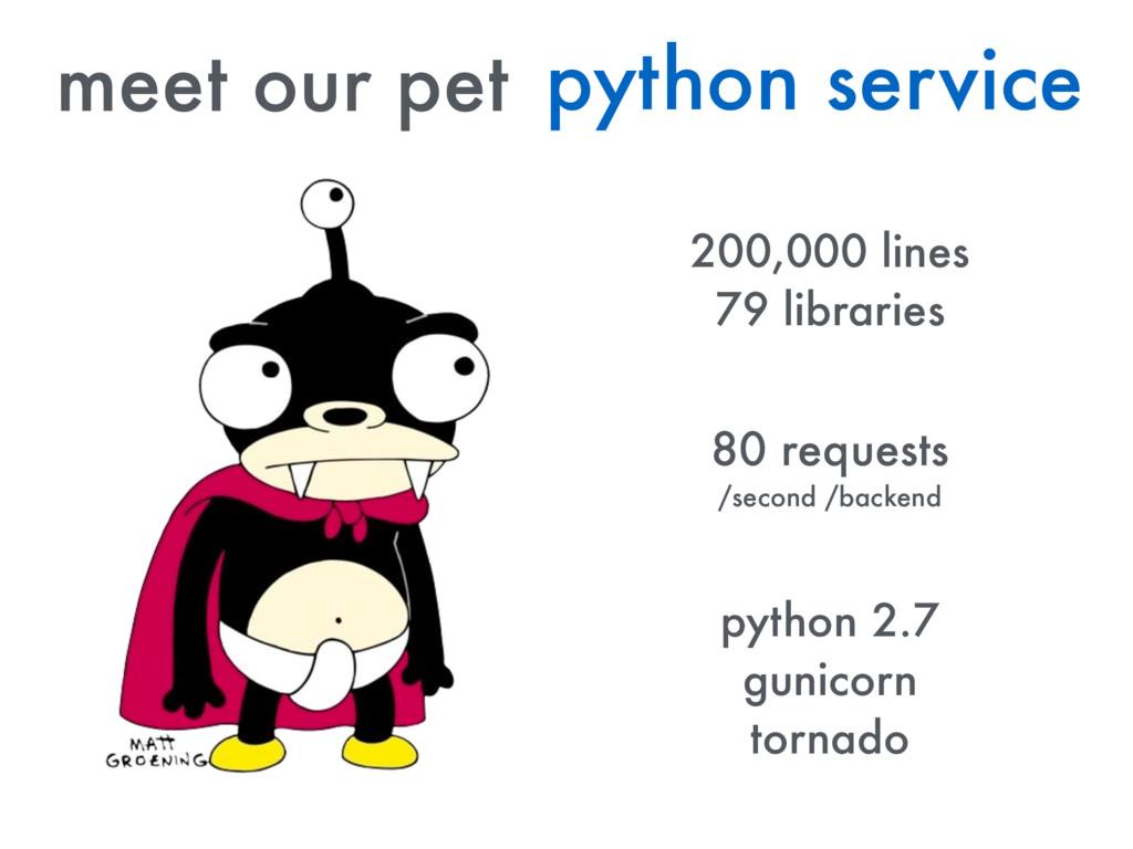 meet our pet python service 80 requests /second...