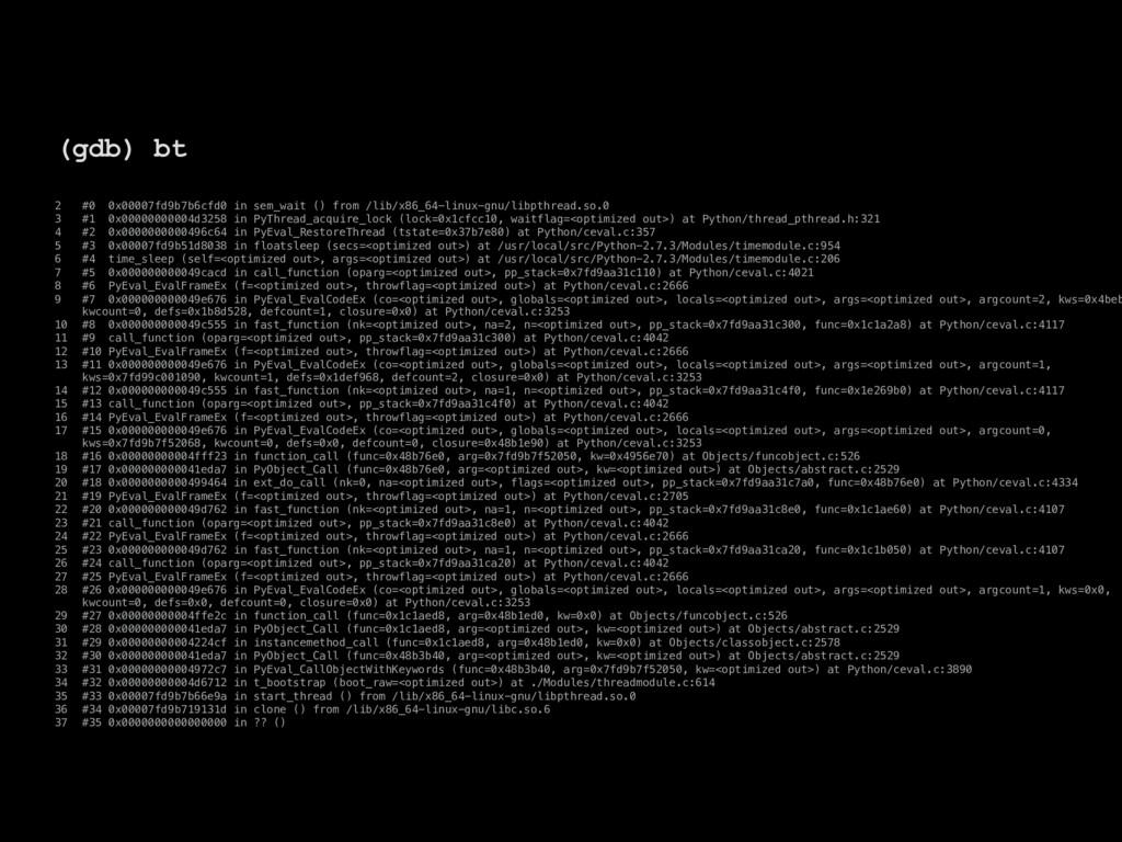 2 #0 0x00007fd9b7b6cfd0 in sem_wait () from /li...