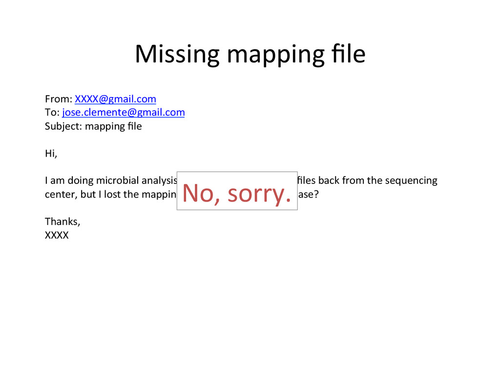 Missing mapping file  From: XXXX@gma...