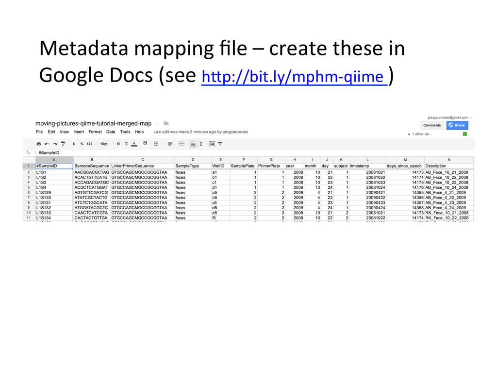 Metadata mapping file – create th...