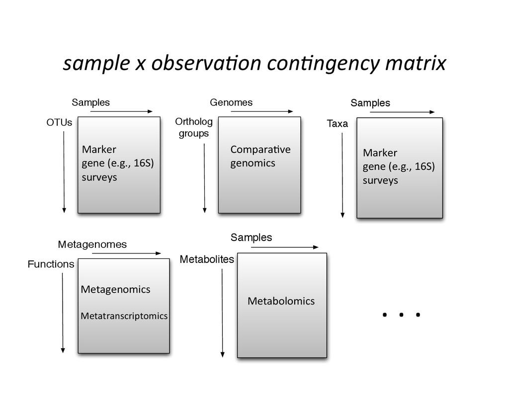 sample x observa9on con9ngency matr...