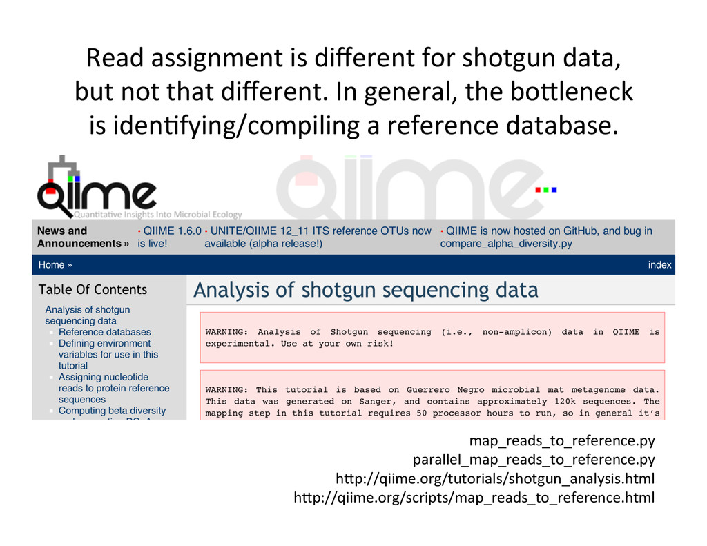 Read assignment is different for ...