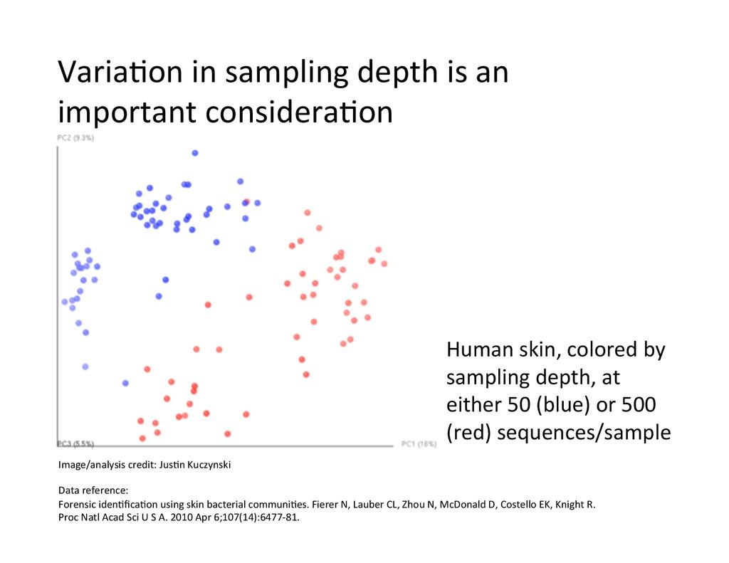 Human skin, colored by  sampling ...