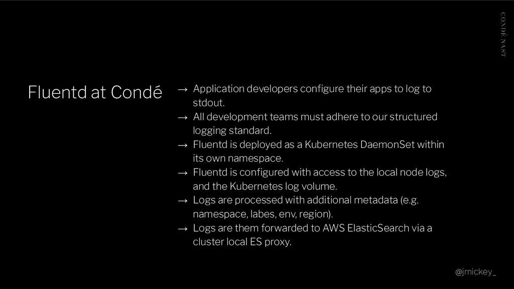Fluentd at Condé → Application developers config...