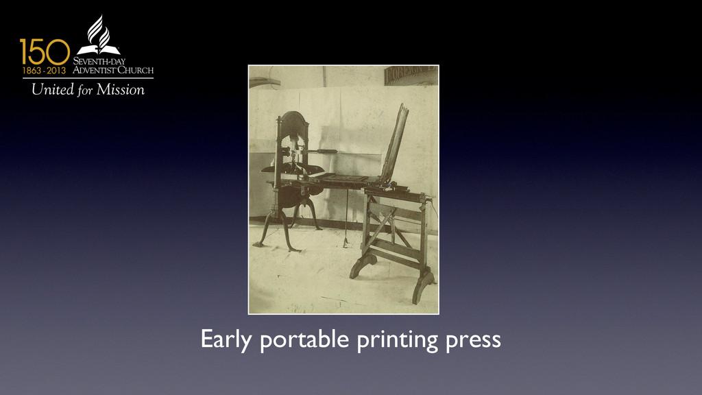 Early portable printing press