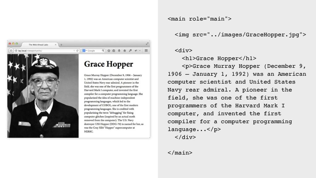 """<main role=""""main""""> <img src=""""../images/GraceHop..."""